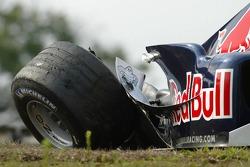 Damaged car of Christian Klien