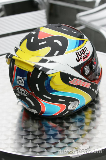 New helmet design for Juan Pablo Montoya