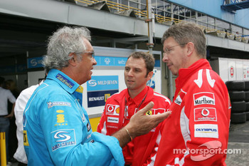 Flavio Briatore and Ross Brawn