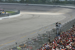 Green flag is waved to start the race