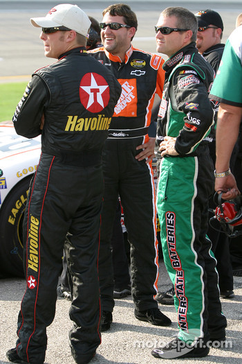 Jamie McMurray, Tony Stewart and Bobby Labonte