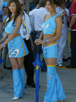 Renault F1 girls