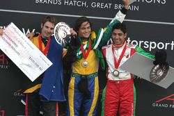Will Power, Nelson A. Piquet, Salvador Duran on the podium