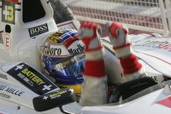 Race winner Nico Rosberg celebrates