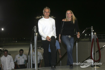 Heikki Kovalainen arrives at the ceremony