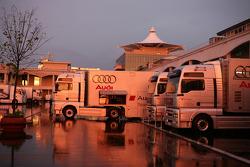 Sunset on the Istanbul Otodrom paddock