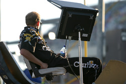 DeWalt Ford crew member enjoys the late afternoon sun