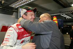 Frank Stippler congratulated by Werner Frowein