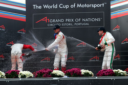 Podium: champagne for Alexandre Premat, Neel Jani and Ralph Firman