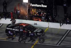 Martin Truex Jr., Furniture Row Racing Chevrolet leads