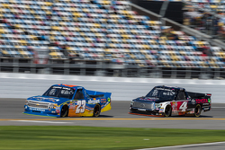 Spencer Gallagher, GMS Racing Chevrolet, Erik Jones, Kyle Busch Motorsports Toyota