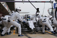 F1 Fotos - Felipe Massa, Williams FW37 practica un pit stop