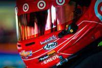 Helmet of Kyle Larson, Ganassi Racing Chevrolet