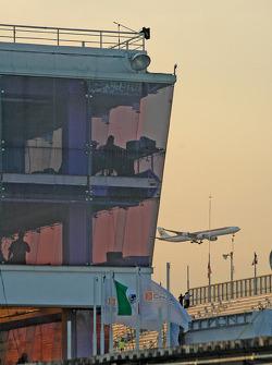 Scoring tower, airplane