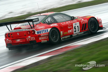 #51 BMS Scuderia Italia Ferrari 550 Maranello: Michele Bartyan, Cristian Pescatori, Toni Seiler