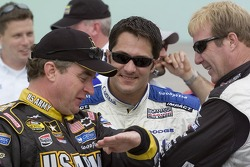 Joe Nemechek, David Stremme and Sterling Marlin