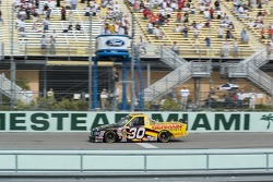 Todd Bodine takes the checkered flag