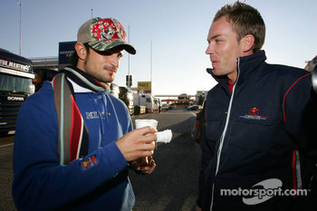 Vitantonio Liuzzi and Robert Doornbos