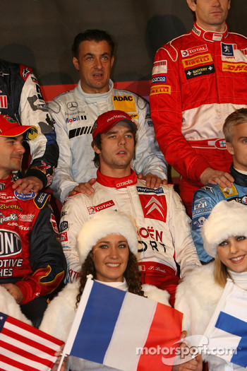 France Nations Cup team Jean Alesi and Sébastien Loeb