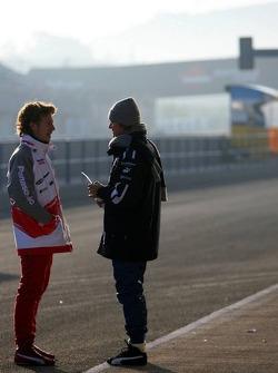 Nico Rosberg and Ryan Briscoe