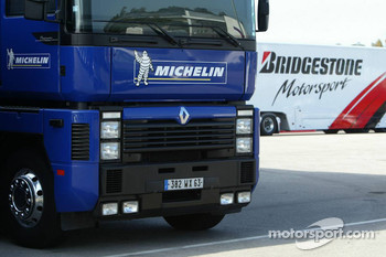 Michelin and Bridgestone transporters