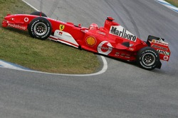Michael Schumacher spins off the track