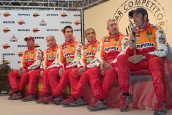 Team Repsol presentation in Madrid: Stéphane Peterhansel, Jean-Paul Cottret, Luc Alphand, Gilles Picard, Nani Roma and Henri Magne