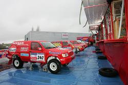 Team Nissan Dessoude presentation: the Nissan Pathfinder T2 of Paul Belmondo and Bernard Irissou