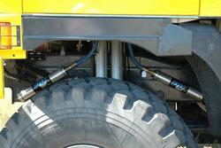 Loprais Tatra Team: detail of the front suspension of the Tatra Dakar 2006 4x4