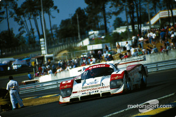 """Young"" Eddie Irvine drives the #1 SARD Company Toyota 94C on sunday morning"