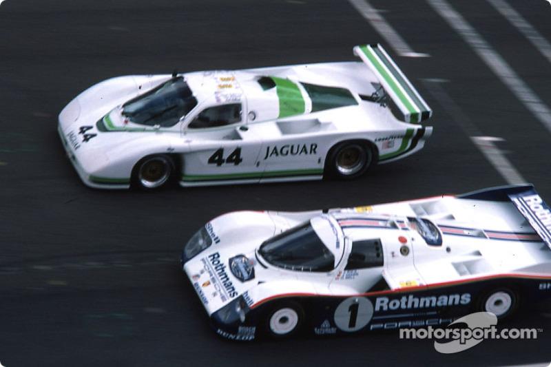 #44 Jaguar Group 44 Jaguar XJR5: Bob Tullius, Chip Robinson, Claude Ballot-Léna, #1 Rothmans Porsche Porsche 962C: Jacky Ickx, Jochen Mass