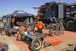 Team Repsol KTM service area