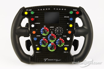 The steering wheel of Jarno Trulli