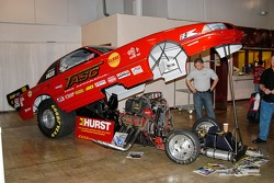 Jake Cummins' Funny Car - engine in the front