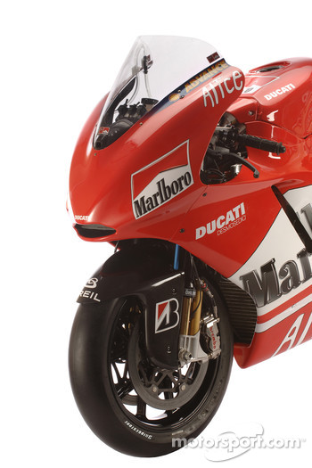 Detail of the new Ducati Desmosedici GP6