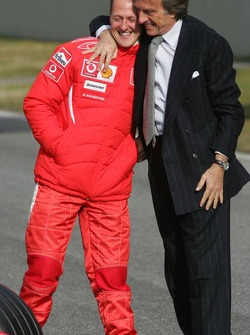 Luca di Montezemelo and Michael Schumacher