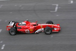 Michael Schumacher tests the new Ferrari 248 F1