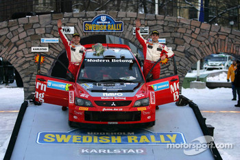 Podium: third place Daniel Carlsson and Mattias Andersson