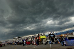 Storm clouds above the garage area