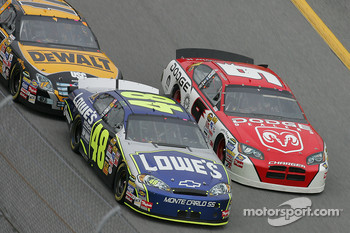 Jimmie Johnson, Kasey Kahne and Matt Kenseth