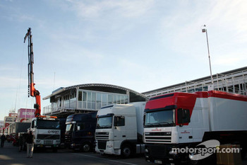 Red Bull Racing paddock infrastructure