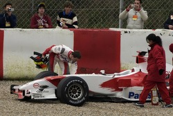Ralf Schumacher after his spin