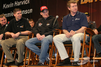 Denny Hamlin, Dale Earnhardt Jr. and Bill Elliott