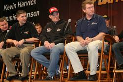 Denny Hamlin, Dale Earnhardt Jr. and Bill Elliott