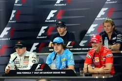 FIA press conference: Kimi Raikkonen, Fernando Alonso, Michael Schumacher, Scott Speed and Nico Rosberg