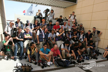 Photographers wait for drivers at the photoshoot