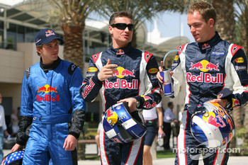 Scott Speed, David Coulthard and Robert Doornbos