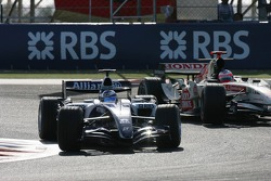 Nico Rosberg and Rubens Barrichello