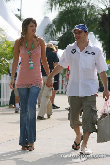 Jacques Villeneuve with his new girlfriend