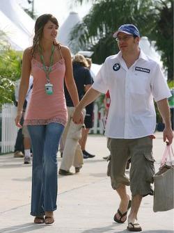 Jacques Villeneuve with his new girlfriend